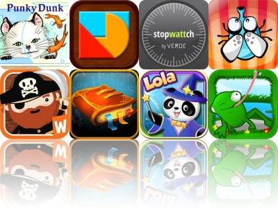 Today's Apps Gone Free: Punky Dunk Project, Hue Shapes, Stopwattch And More