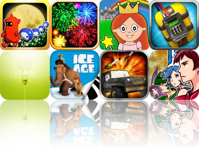 Today's Apps Gone Free: Kotomon, Real Fireworks, Princess Fairy Tale Coloring Wonderland And More