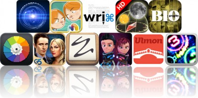 Today's Apps Gone Free: LensFlare, The Opposites, FioWriter And More
