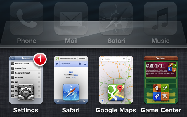 Auxo App Switcher Jailbreak Tweak Updated For iOS 5.1.x
