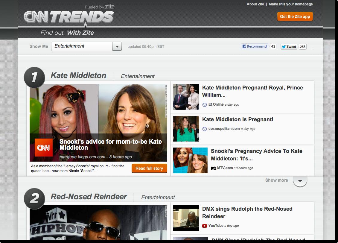 Zite Launches Major New Update, CNN Trends - 推酷