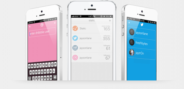Static For iPhone Brings Order To Your Online Accounts Including Instagram, Dribbble And Others