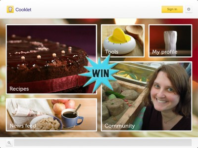 Make Your Tastebuds Cheer By Winning A Cooklet For iPad Promo Code