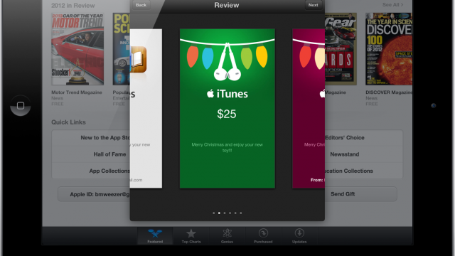 How To Send iTunes Gift Cards And Individual Apps From Your iOS Device This Holiday