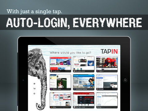 TapIN Pro For iPad Creates A One-Step Website Login Process For iPad