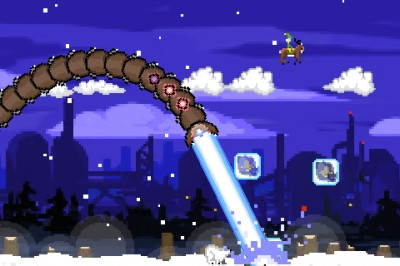 The Worm Is Back With Some Holiday Cheer In Super Mega Worm Vs Santa 2