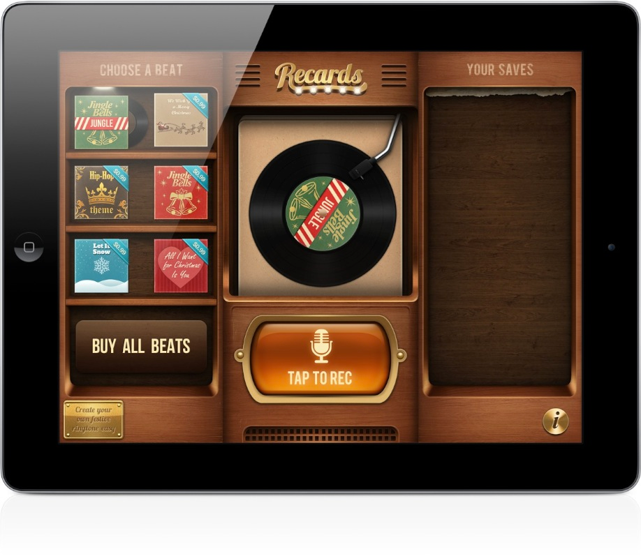 With Recards You Can Create And Send Unique Holiday Musical Greetings On iPad
