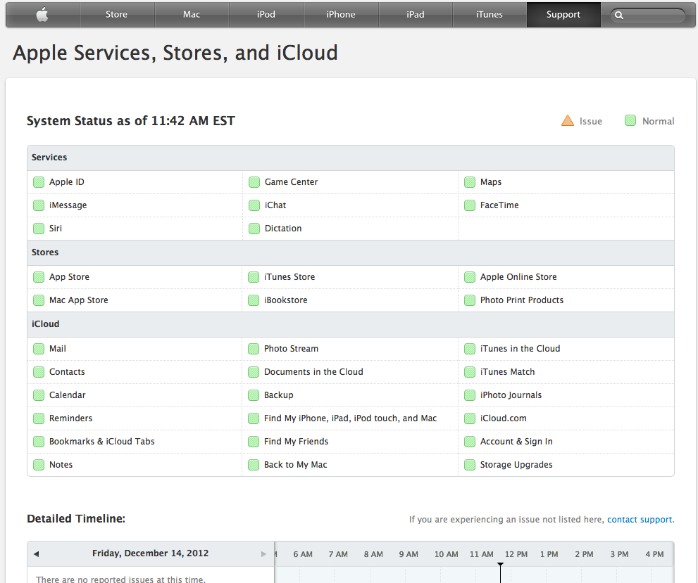 Apple Launches More Detailed System Status Page For When Things Go Wrong