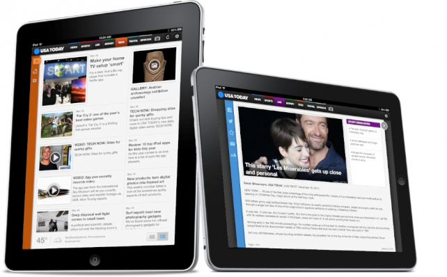 USA TODAY For iPad Reboot Not Sitting Well With Traditionalists