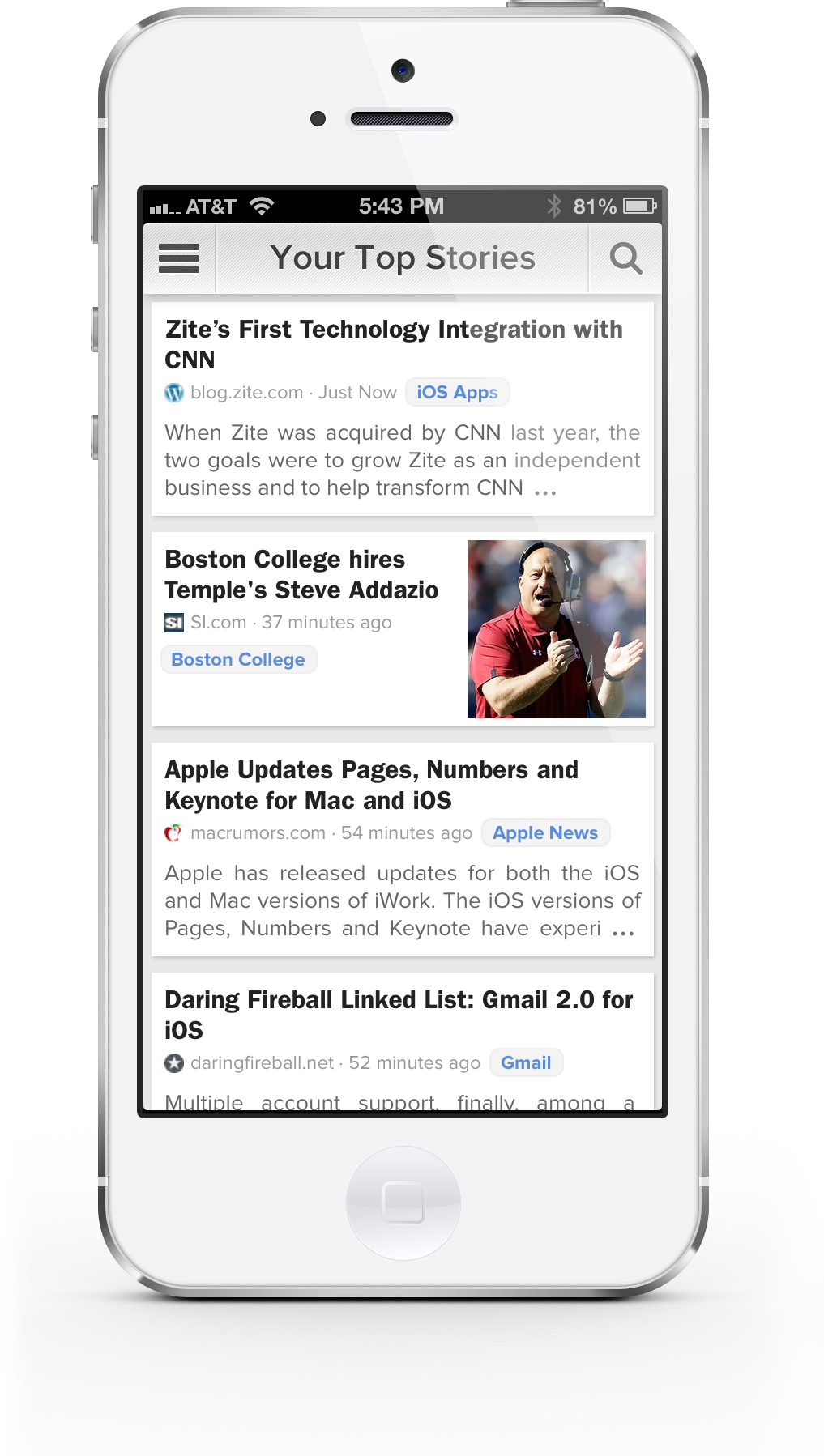 Zite Launches Major New Update, CNN Trends