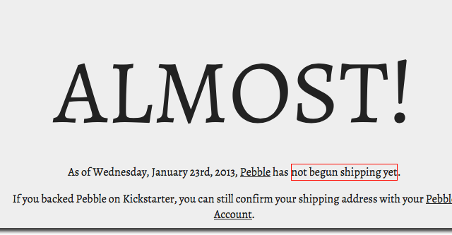 Pebble Watches Finally Shipping ... Well, Some Of Them