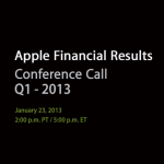 Apple To Announce Q1 2013 Financial Results On Jan. 23