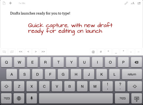 Popular Quick Text Capture App Drafts Is All About Taking Action