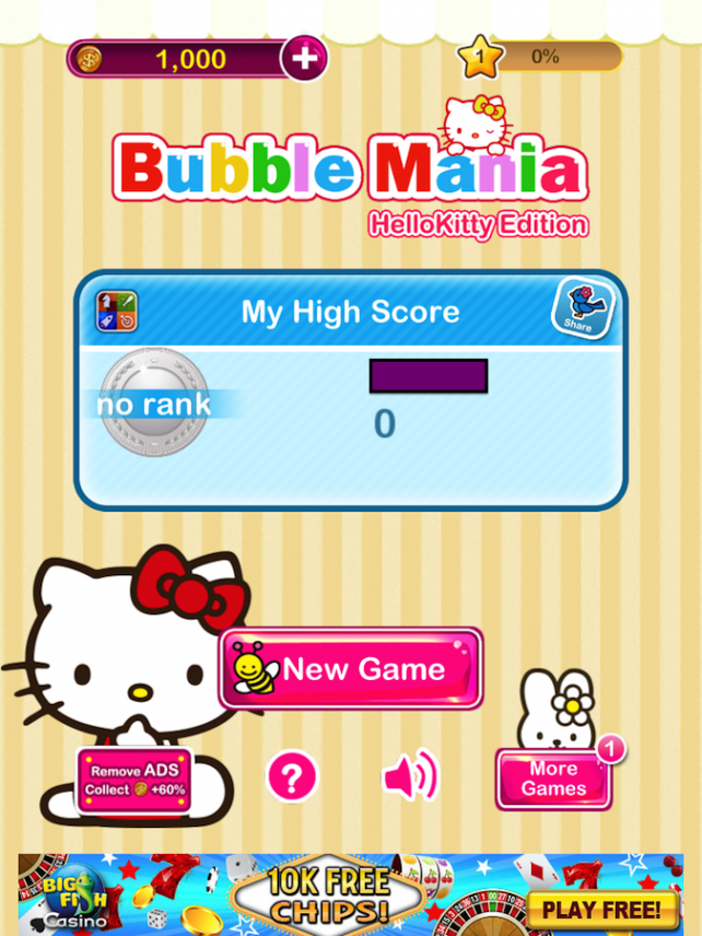 Bubble Mania Hello Kitty Edition Brings A Warm Fluffy Feel To This Classic Game