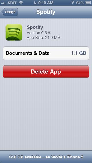 Unnecessary data