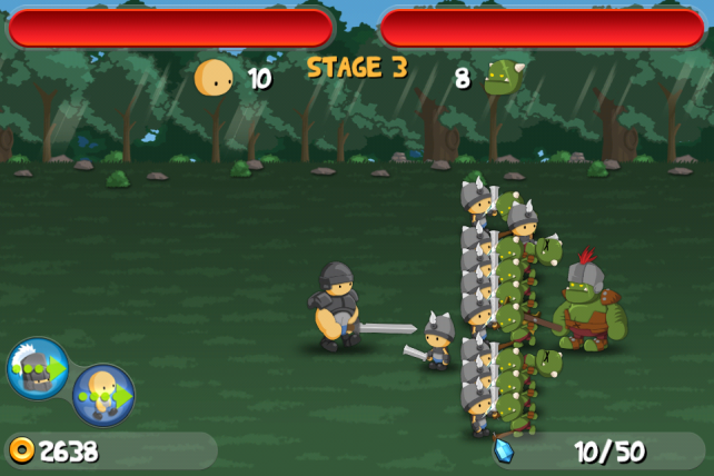 Up Your Hero A Little More In Battle Game A Little War