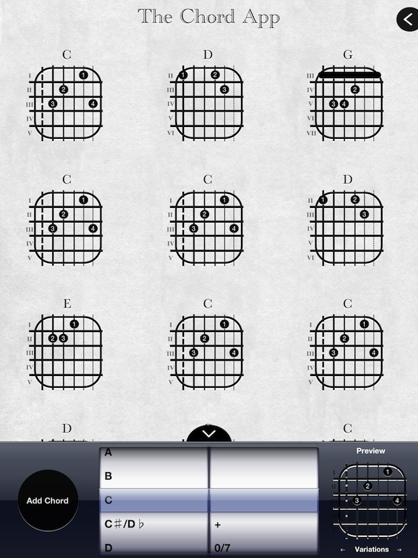 Musicians Corner Create Custom Chord Charts With Chord App