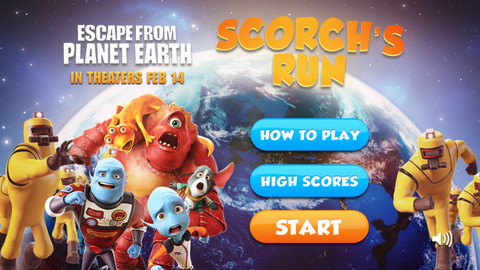 Help A Blue Alien Escape From Planet Earth In Scorch's Run