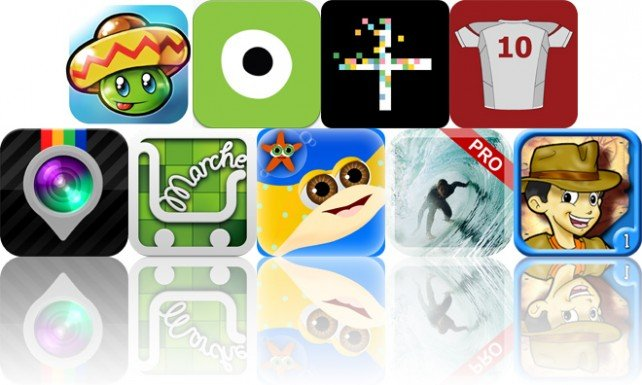 Today's Apps Gone Free: Bean's Quest, Eye Paint Animals, Glyphs And More