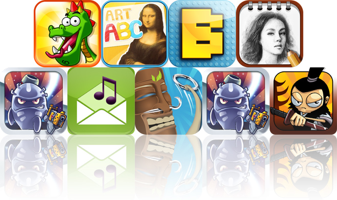 Today's Apps Gone Free: Feed That Dragon, Art ABC, Bloxy HD And More