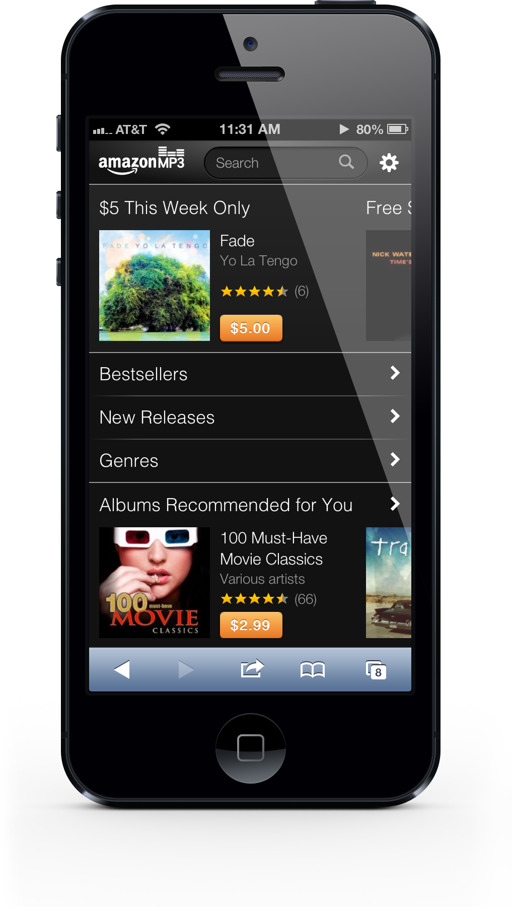 Watch Out Apple: Amazon Launches A Web-Based Music Store For iPhone Owners