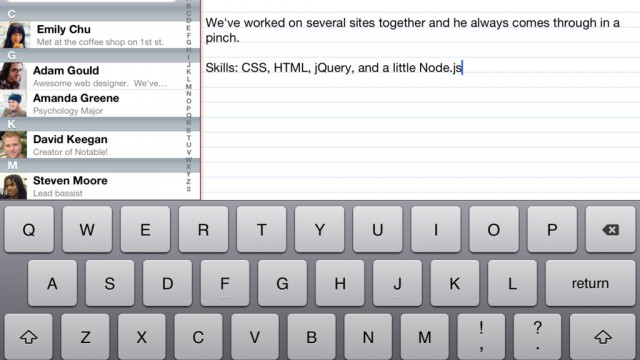 Keeping Notes On Your Contacts Has Never Been Easier With Notable