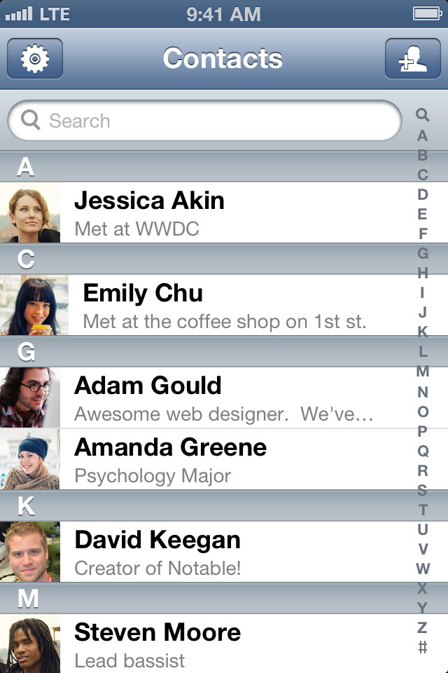Notable - Contact Notes Made Easy (Free) by David Keegan is a simple ...