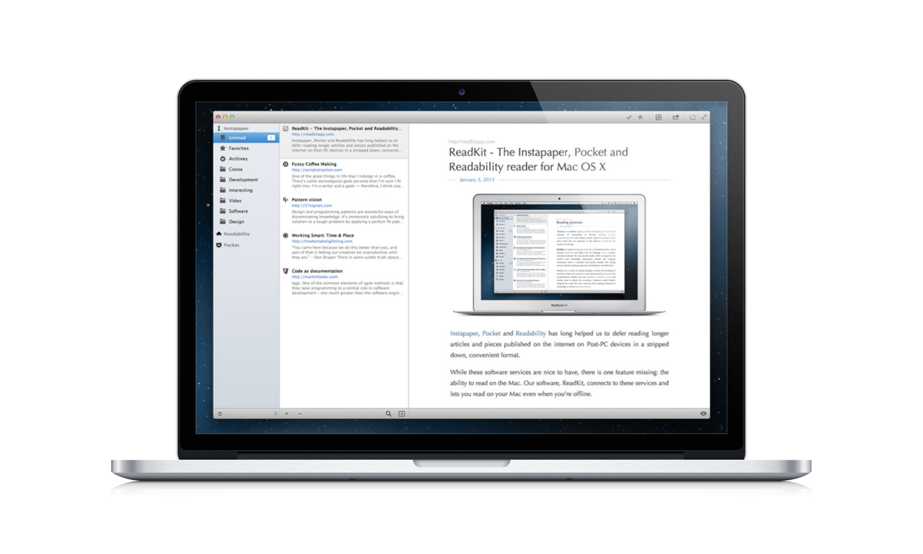 Read Instapaper, Pocket, And Readability Articles Later On Your Mac With ReadKit
