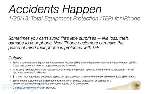 Sprint To Offer iPhone Customers Total Protection From Loss Beginning Jan. 25
