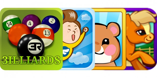 Today's Best Apps: 3illiards, Flying Boy, Hamster Chase And Pony Dash HD