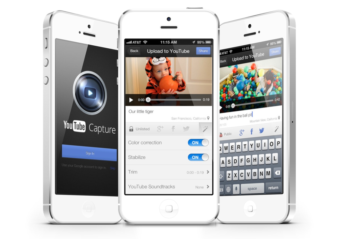 YouTube Capture App Now Offers 1080p Uploads