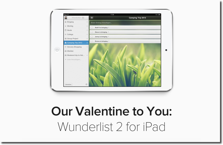 Wunderlist 2 To-Do List Manager Launches On iPad