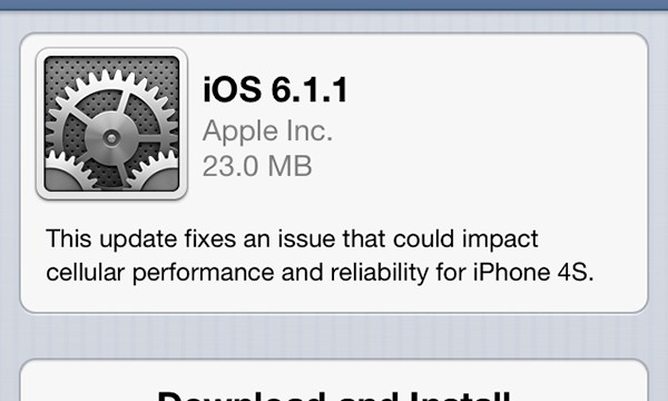 Apple Releases iOS 6.1.1 For The iPhone 4S