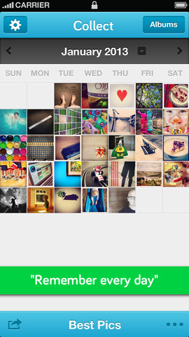 Photo-A-Day App Collect Gathers Dropbox And Flickr Integration Plus More