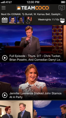 You Can Now Sync And Watch Full Episodes Of 'Conan' In The Team Coco iPhone App