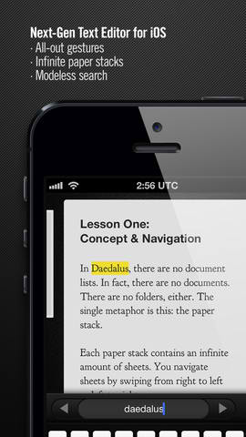 Universal Support Waltzes Into Gesture-Based Text Editor Daedalus Touch