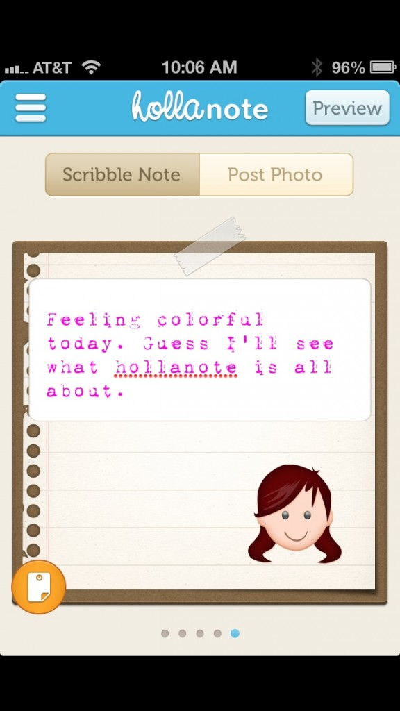 Turn Your Boring Facebook Updates Into Colorful Creations With Hollanote