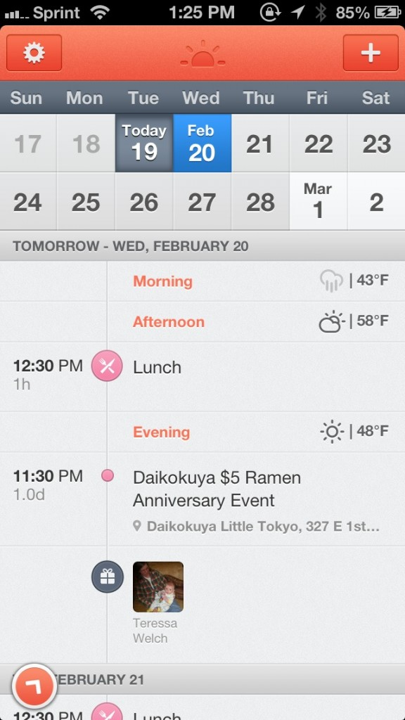 Start The Day With Sunrise Calendar, A Sleek App For Your