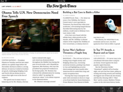 Previously For iPhone Only, Search Finally Comes To NYTimes For iPad