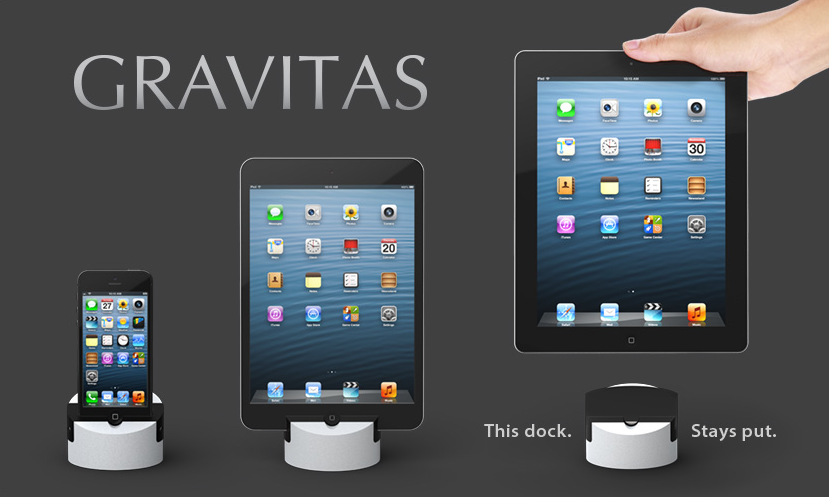 Macworld/iWorld 2013: Docking Solution Found In Gravitas