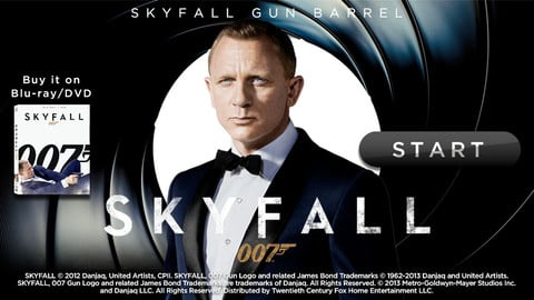 Make Like Bond, James Bond With The Skyfall Gun Barrel App