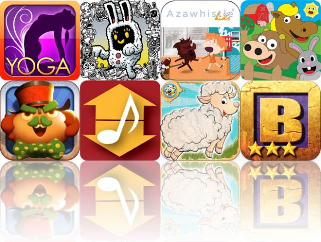 Today's Apps Gone Free: All-In Yoga, Hidden Doodles, AzawhistleKids And More