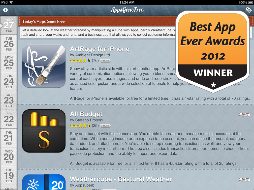 AppsGoneFree Is Now An Award-Winning App