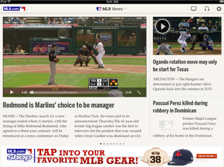 Updated MLB.com At Bat Reports To The App Store In Time For Spring Training