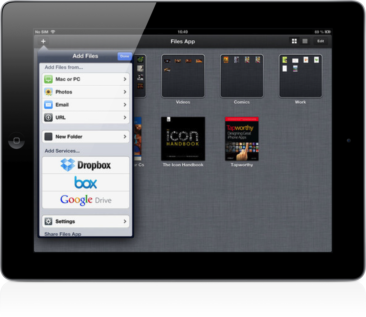 Files App for iPad