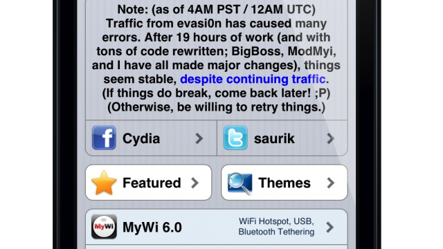 Cydia Founder Addresses Outtages Caused By Evasi0n Jailbreak