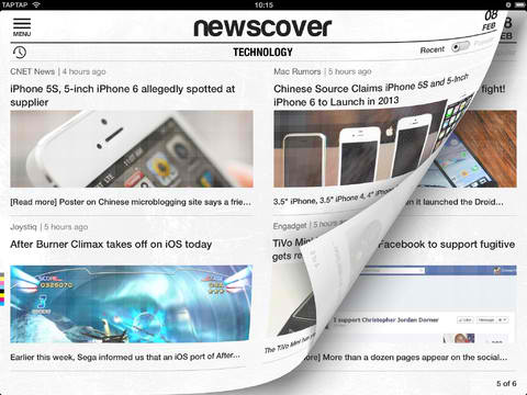 Adaptive News Reader App Newscover Uncovers Major Redesign