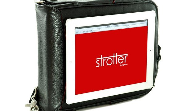 Macworld/iWorld 2013: Strotter's Platforma Messenger Bag Morphs Into A Portable Desk