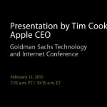 Listen To Tim Cook's Goldman Sachs Presentation Here
