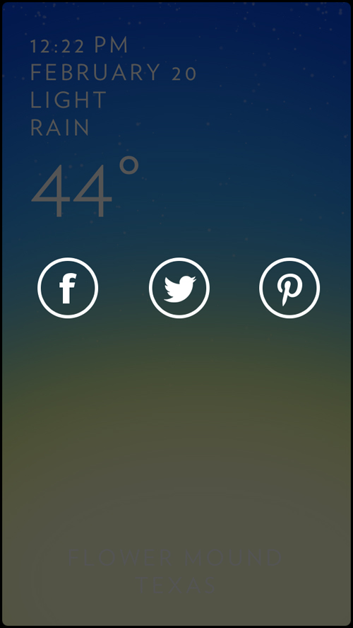 You can now share the weather on Facebook, Twitter, and Pinterest.